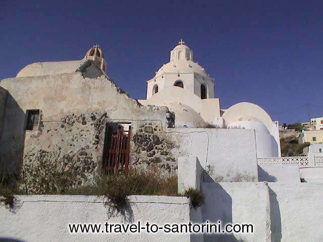 Church in Kontochori (a region in Fira), next to Santorini Folklore Museum